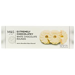 Marks & Spencer Extremely Chocolatey White Chocolate Rounds 200g Made in the UK