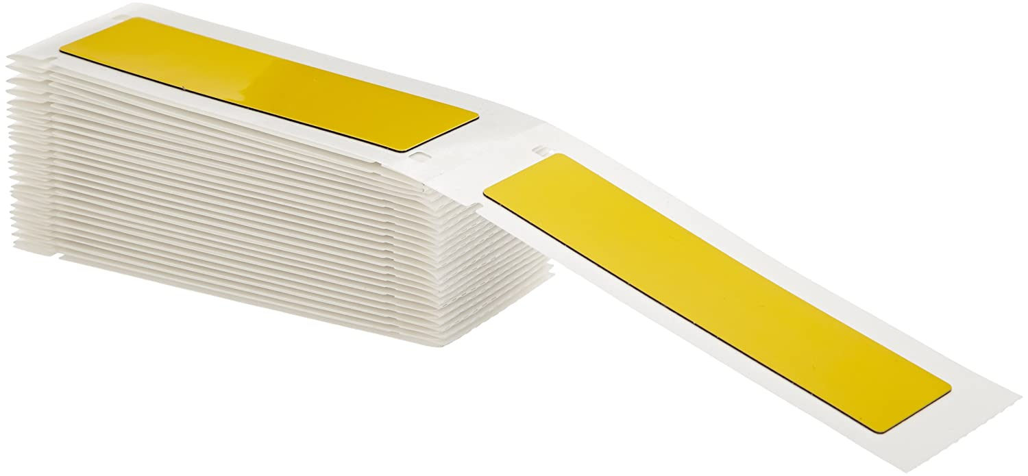 Brady M71EP-174-593-YL 4 Width x 1 Height Yellow Color B-593 Adhesive-Taped Polyester Raised Panel Labels With Gloss Finish For BMP71 Printers 50 Per Box