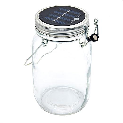 Sun Jar von CasaBasics attraktive und hochwertige Solarlampe im Einmachglas mit 4 LEDs Solarlampe Solarglas Solarleuchte