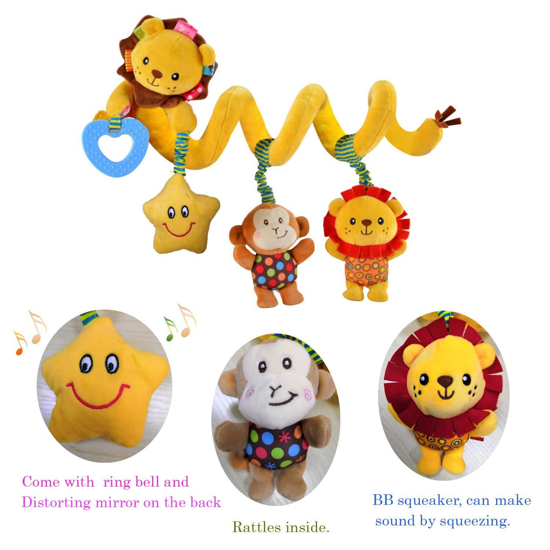 Music Star Crib Hanging Baby Toys For Stroller Rattles Educational Plush Toys
