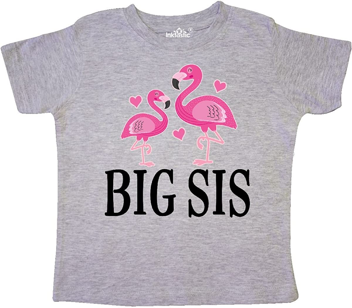 inktastic Sister Announcement Flamingo Sister Toddler T-Shirt