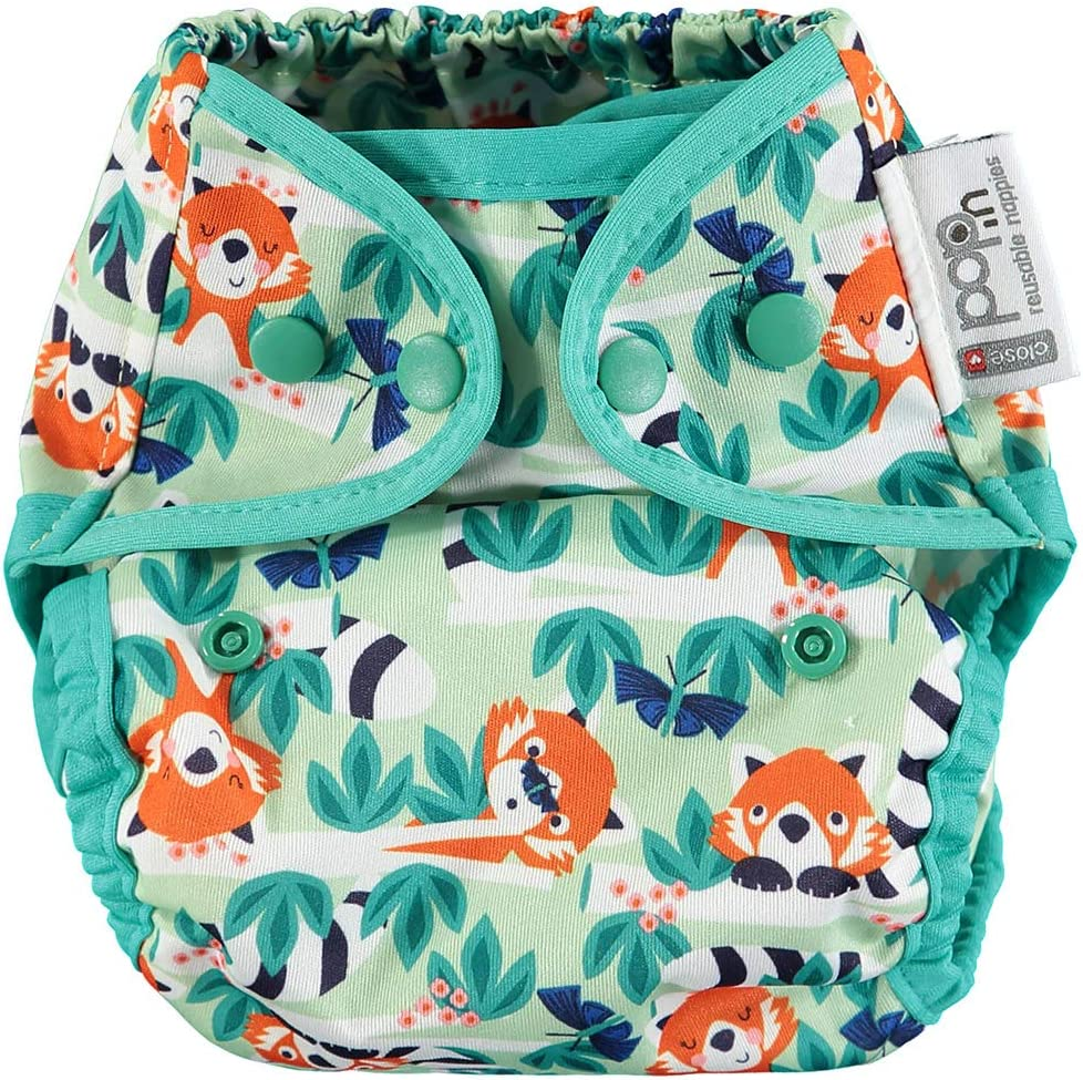 Pop-in Single Printed All Popper Nappy Red Panda