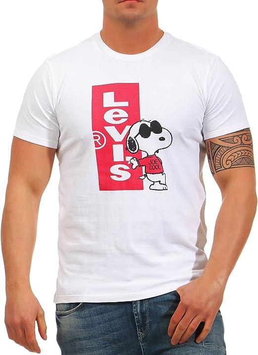 Levis Camiseta Levis – Graphic Setin Neck 2 CNY Snoopy Redtab Blanco/Rojo Talla: XS (X-Small): Amazon.es: Ropa y accesorios