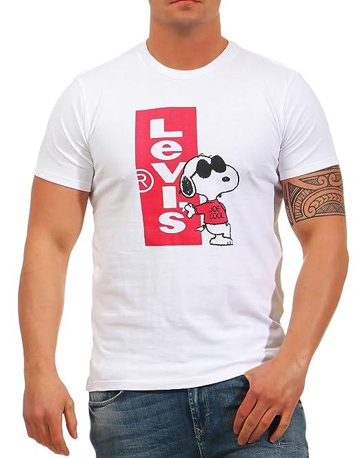 Neck Setin White Levis Levi's Camiseta Tl QdWBoerCxE