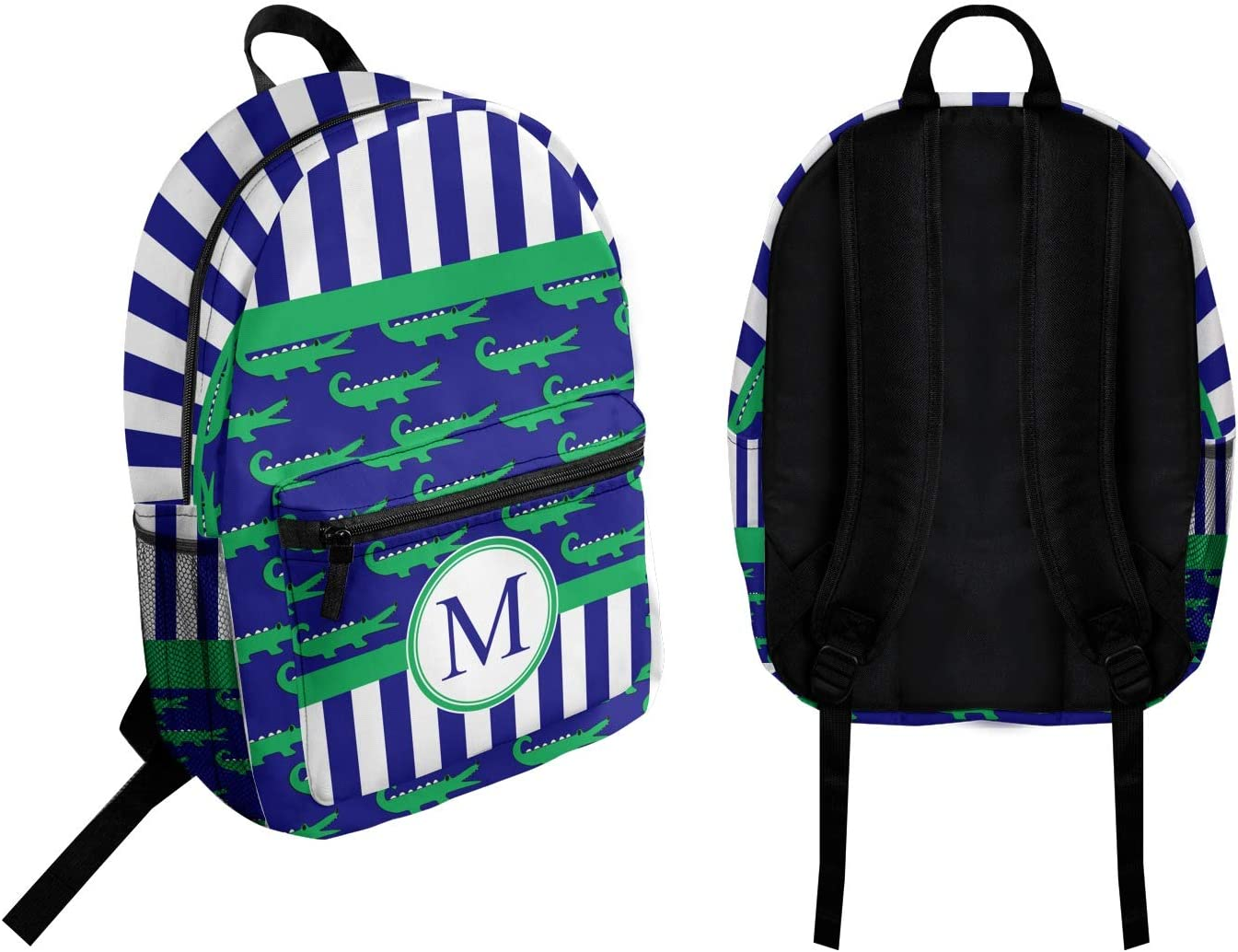 Personalized Alligators /& Stripes Student Backpack