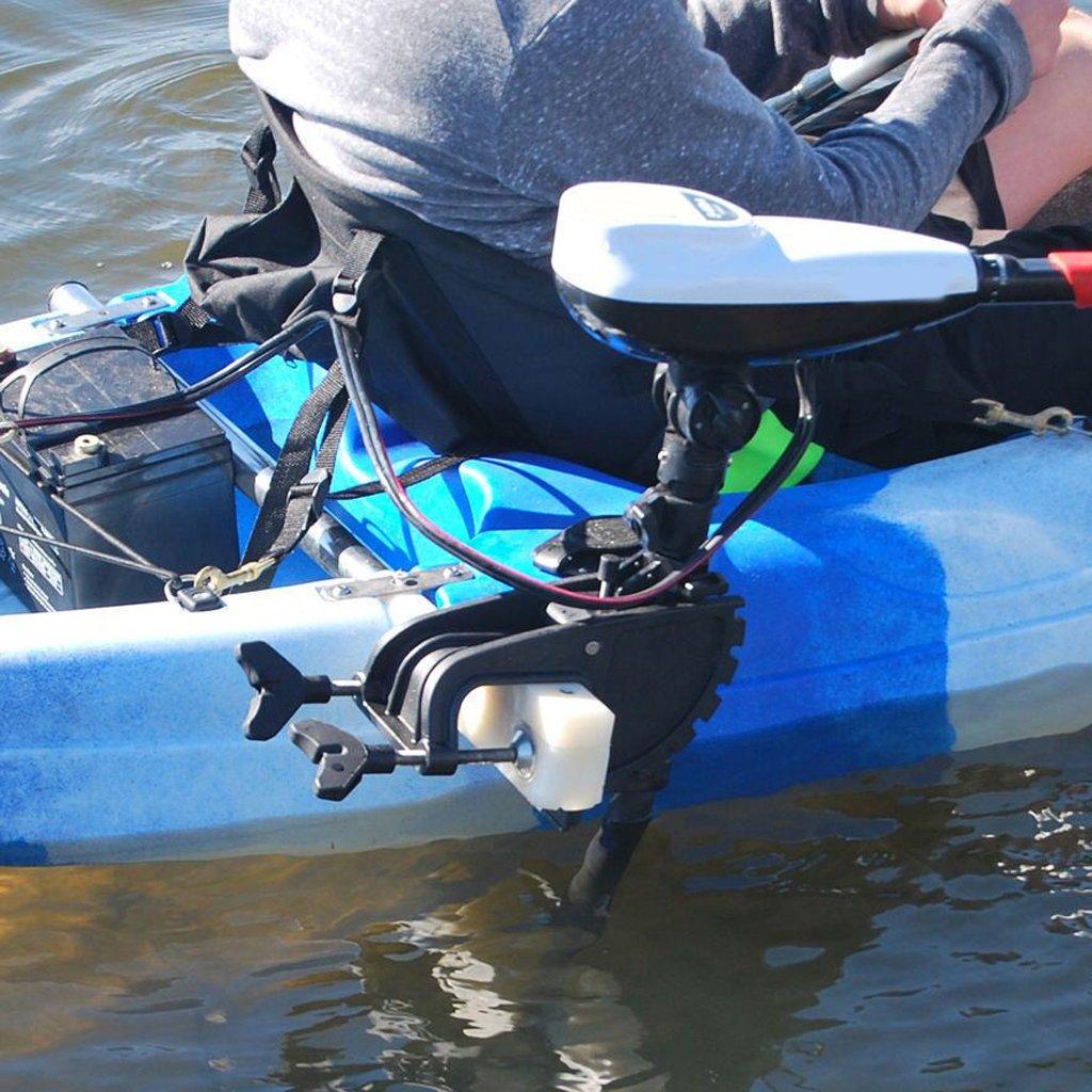 FLAMEER 2 Piezas De Acero Inoxidable Kayak Trolling Soporte del Motor El/éctrico Montaje De Hardware