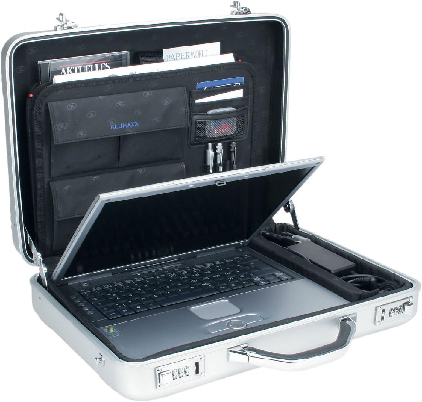 ALUMAXX Laptop Attachékoffer MERCATO Aktenkoffer Laptop Alu Koffer Aluminium silber 45188 Alumaxx©