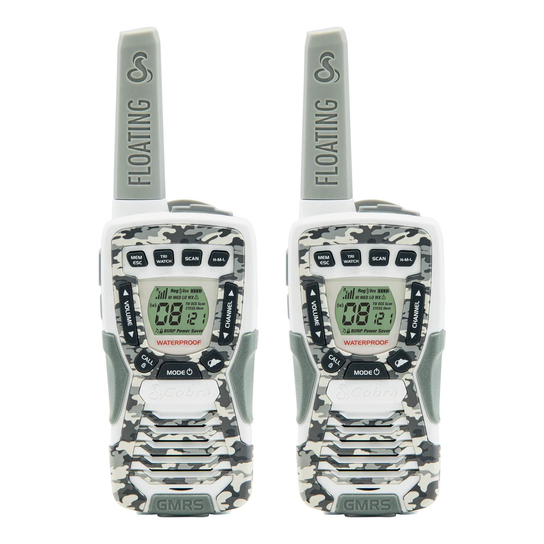 Cobra CXT1095FLTCW Walkie Talkies 37-Mile Two-Way Radios, Rechargeable (Camo White, Pair)