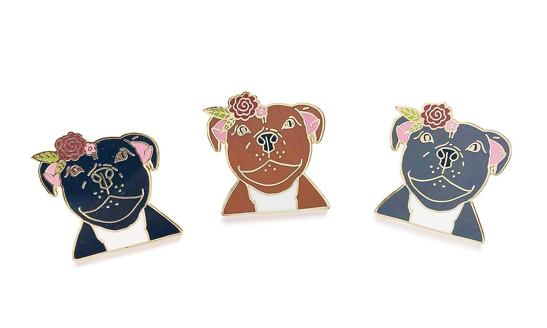 Staffordshire Bull Terrier Enamel Pin Staffy Badge Staffie Lover Gift