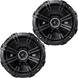 "2) Kicker 43DSC6704 D-Series 6.75"" 240W 2-Way 4-Ohm Car Audio Coaxial Speakers"