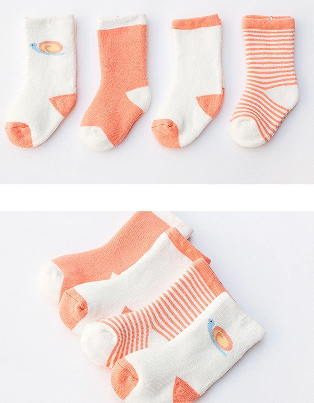 Xiang Ru Baby 4 Pairs Cotton Cartoon Thick Calf Socks