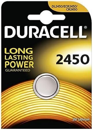 Duracell CR2450 - Pilas para monedas de litio (4 unidades, 3 V, en blíster)