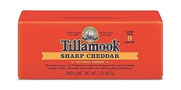 sharp cheddar cheese. tillamook, sharp cheddar cheese baby loaf, 2 lb