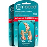 Compeed Advanced Blister Care Cushions 5 Count Mixed Sizes Pads (2 Packs)