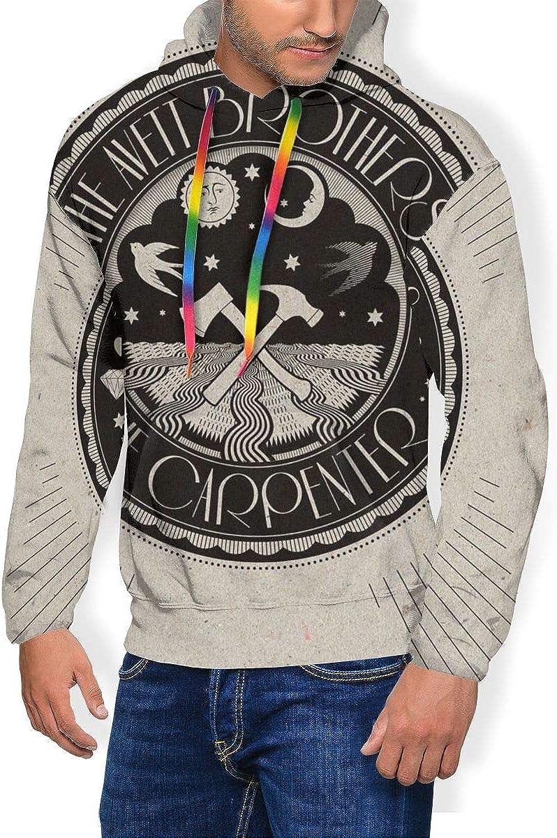 TticusC Mens The Avett Brothers The Carpenter 3D Ptinted Plus Velvet Hoodies Sweatshirt Black