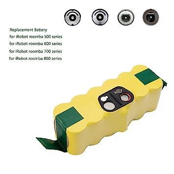 efluky Batería de Repuesto Ni-MH 4500mAh para iRobot Roomba 500, 600, 700 y 800 Series