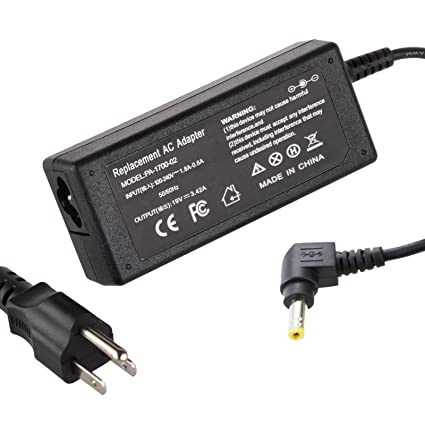 Powerhut 19V 3.42A 65W AC Adapter Charger for Acer Gateway PA-1650-01 Aspire 1410 1640 TravelMate Series (Plug Tip Size: 5.5mm x 2.5mm)