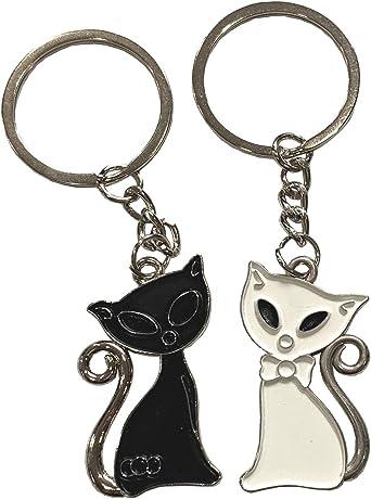 Halloween Black Cat with Bat Planner Charm Key Chain Zipper Pull