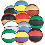 """4-PK Assorted Mini 7"""" Rubber Basketballs Party Favors by PlayTime"""