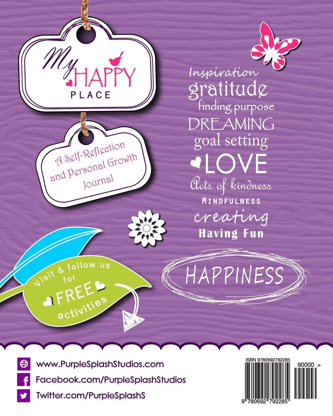 My Happy Place: A Children's Self-Reflection and Personal Growth Journal  with Creative Exercises, Fun Activities, Inspirational Quotes, Gratitude,  Dreaming, ...