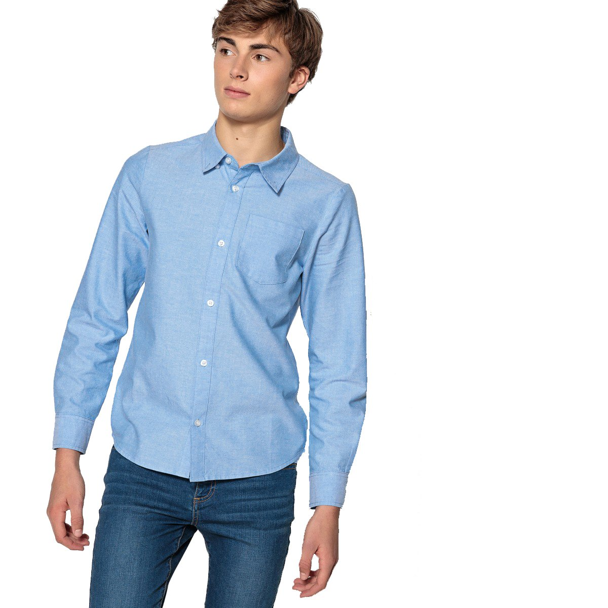 10-16 Years La Redoute Collections Big Boys Cotton Oxford Shirt