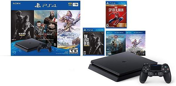 Holiday Ultimate Bundle Playstation 4 1TB Slim- Jet Black