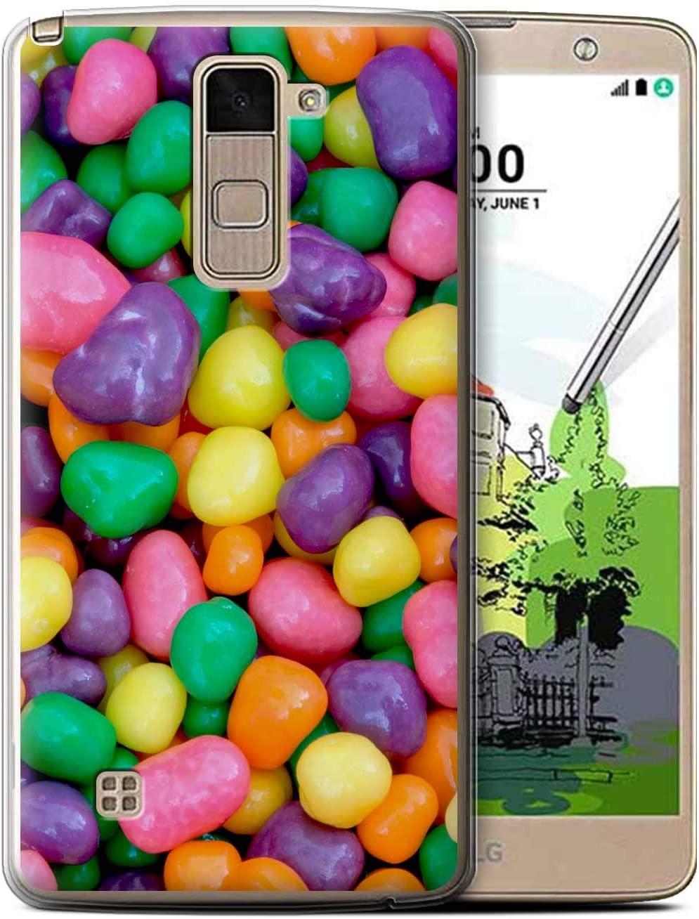 eSwish Gel TPU Phone Case/Cover for LG Stylo 2 Plus/MS550/K535 / Nerds Design/Confectionery Collection