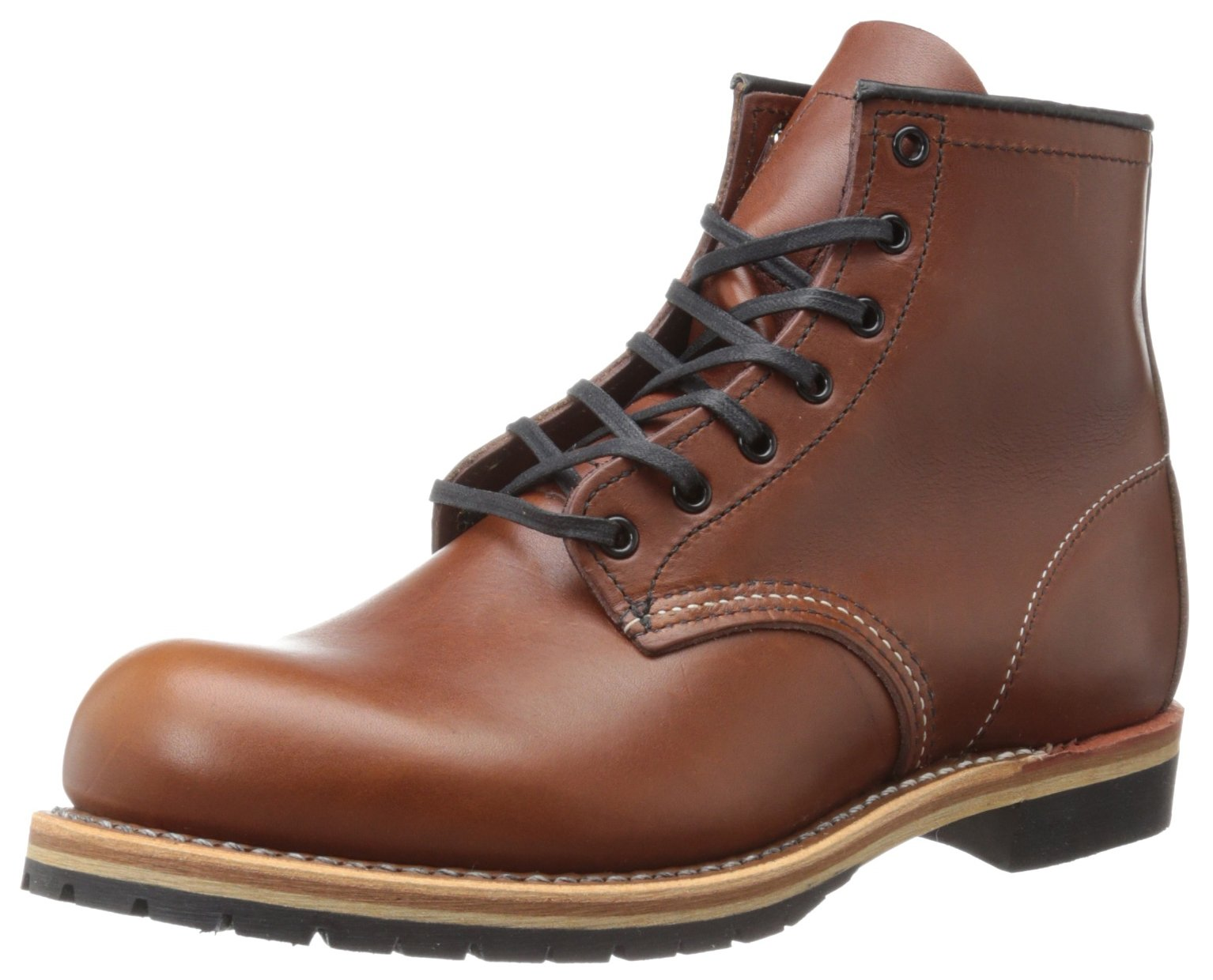 Red Wing Heritage Men's Beckman 6-Inch Round Lace Up, Cigar Featherstone, 9.5 D US