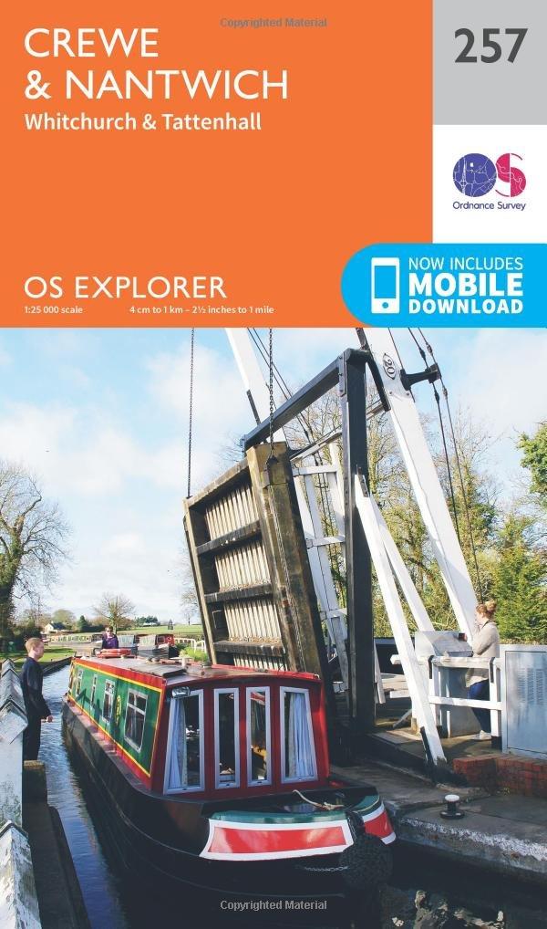 Ordnance Survey Explorer 257 Crewe /& Nantwich Map With Digital Version