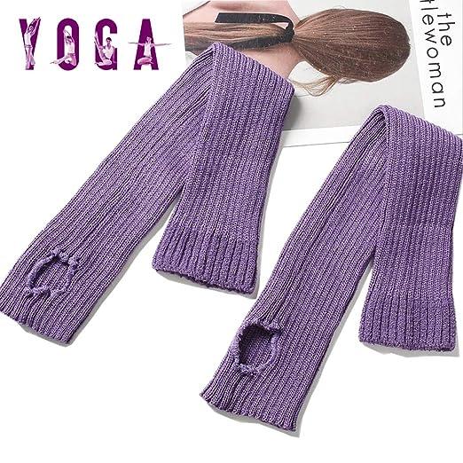 Grist CC Mujer Yoga Calcetines Cómodo Tobillo Calentadores ...