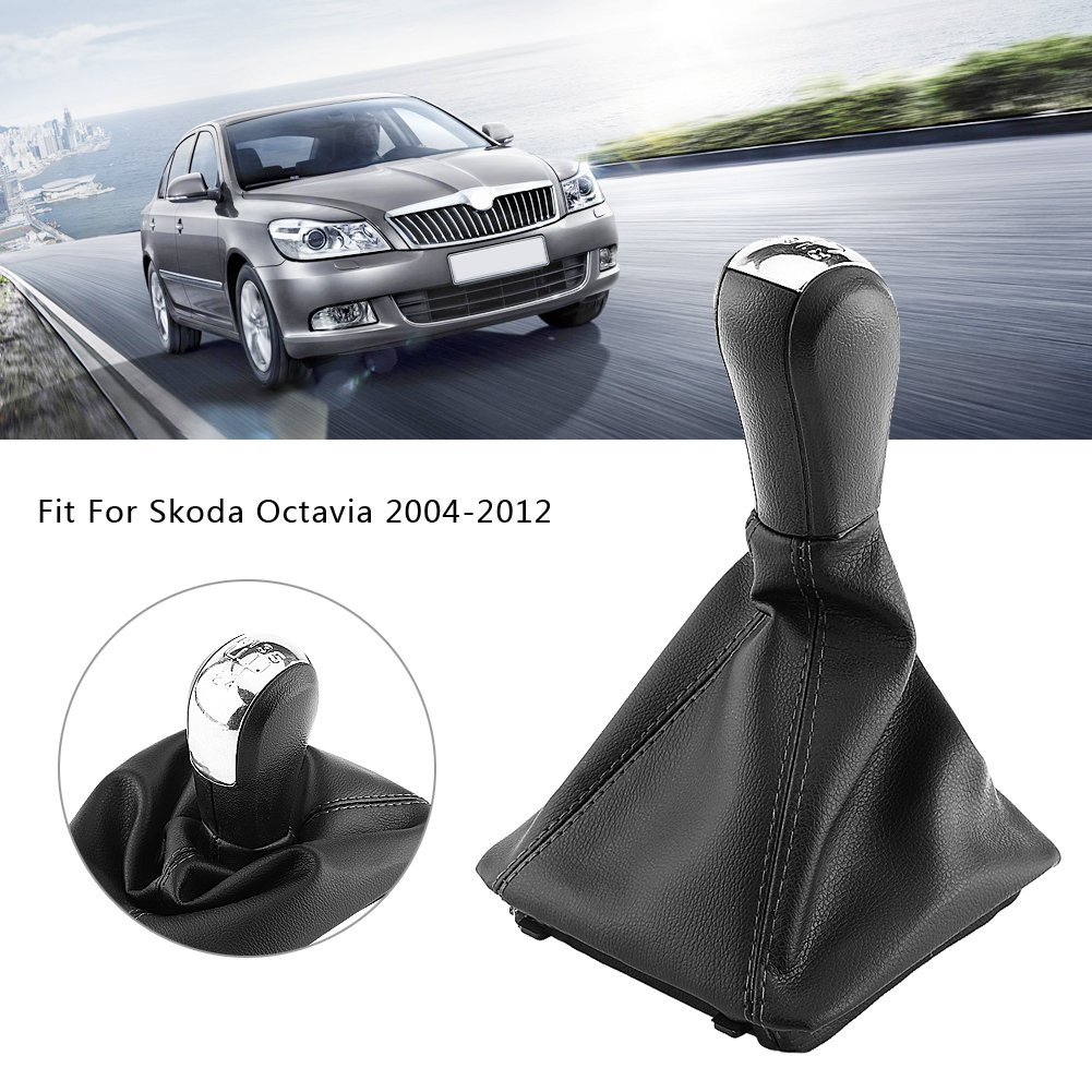 Amazon.com: Qiilu 5 Speed Car Gear Shift Knob Gearstick Gaiter Boot Manual/Auto Gear Shift Boot Cover Kit for Skoda Octavia 2004-2012: Electronics