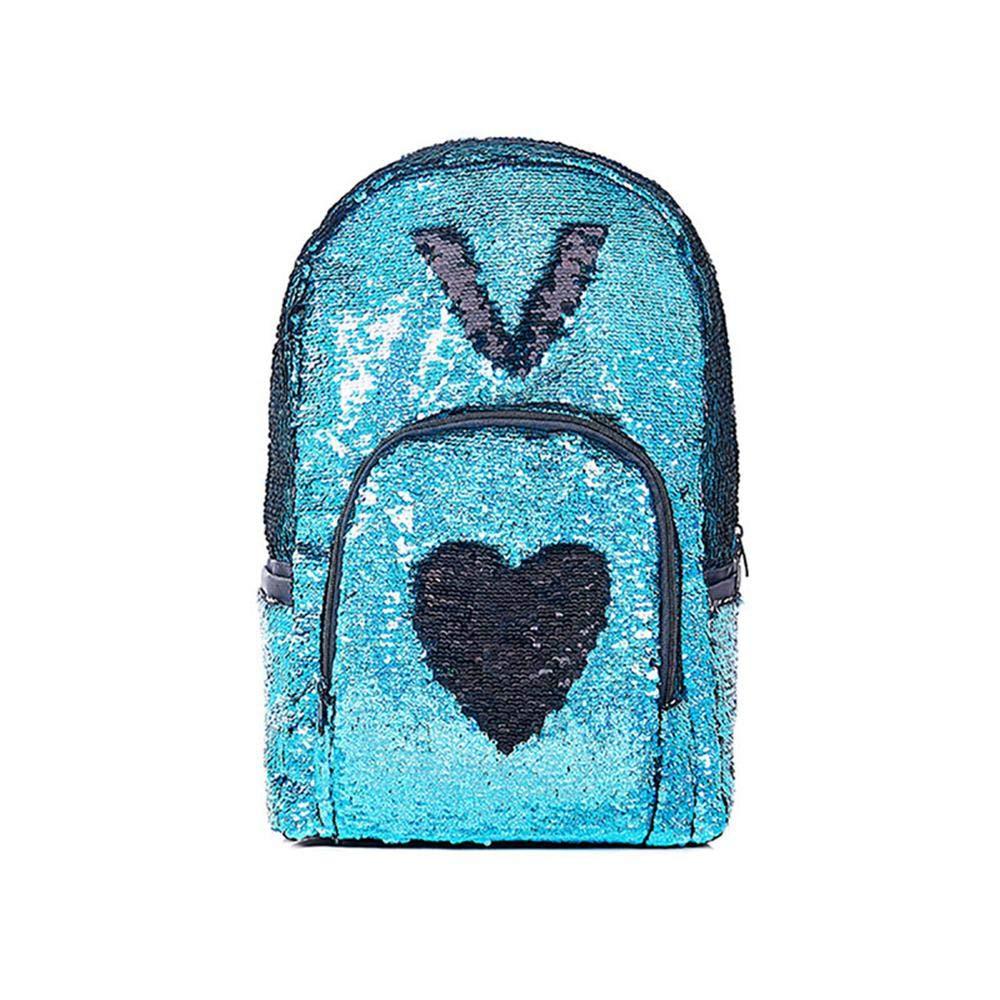 Layopo Flip Sequin Backpack, Glitter Reversible Sequins Backpack, Durable Sequence Backpack for Girls, Travel Mermaid School Bag Lightweight Back Pack High Capacity Foonee