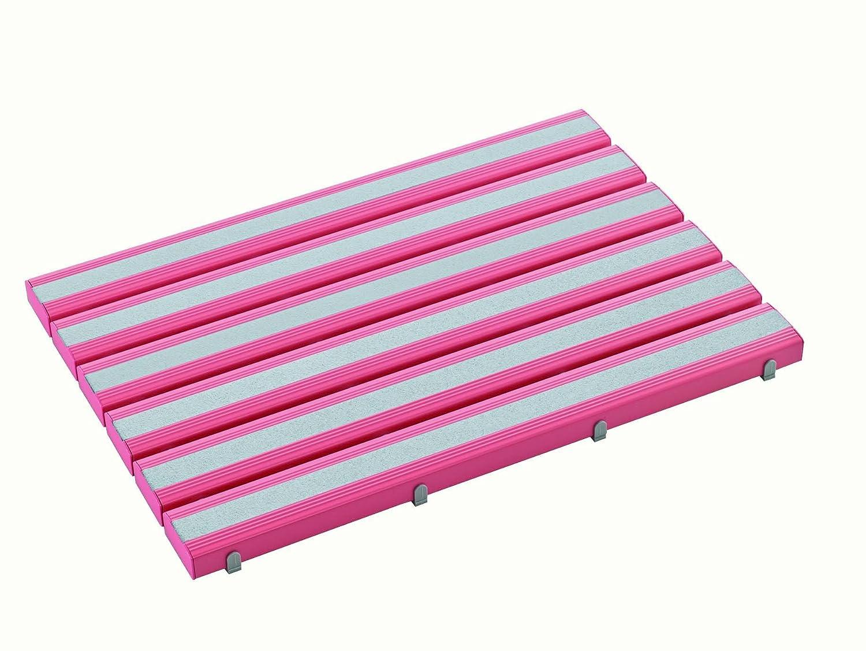 抗菌すべり止め安全スノコ(組立完成品 MR-980-442(600X1160) ピンク  ピンク B00ME4W1T8