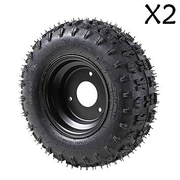 Amazon.com: ZXTDR - 2 neumáticos con borde para ATV Quad Go ...