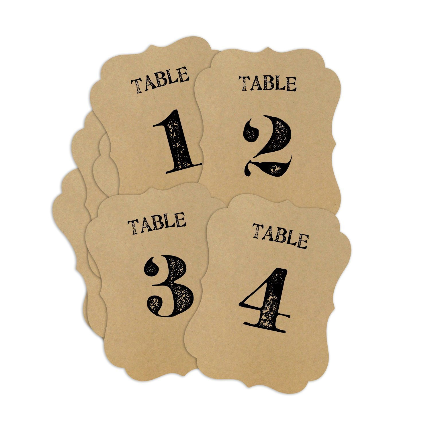 Rustic Table Numbers Size: 3.75