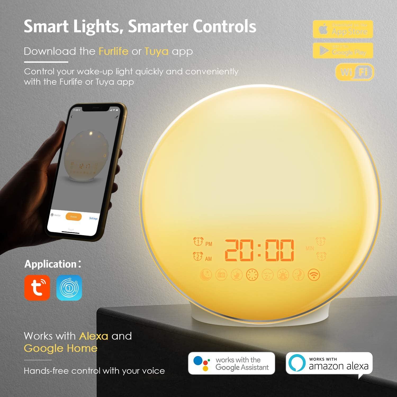 Amir App Kontrolle Smart Wake Up Light Lichtwecker Elektronik