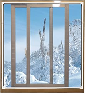 "Magnetic Window Insulation Kit - Heavy Duty Window Insulation Film with Full Frame Magnetic Strip Size Up to 72""x 48"" Max Warm in Winter and Cool in Summer"