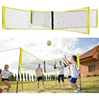 BEAUTISZSVILL Four Square Volleyball Net, Four Person Volleyball Game, Portable Beach Volleyball Net, Outdoor Backyard Volleyball Net
