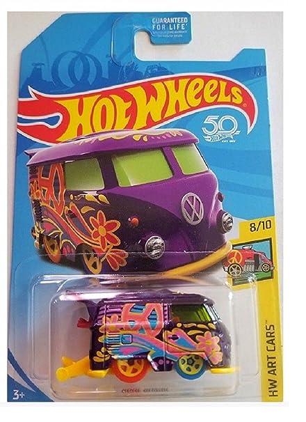 Amazon.com: 2018 Hot Wheels Regular Treasure Hunt Hw Art Cars - Volkswagen Kool Kombi: Toys & Games