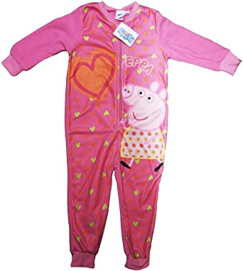 f67dee50e2ef Peppa Pig Girls Official Pink Onesie All In One PJS Childrens Sizes ...