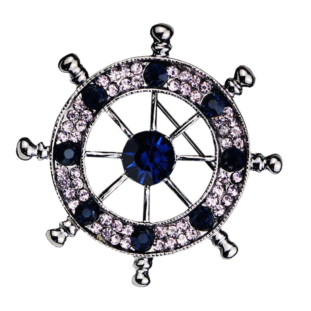 MagiDeal Broche Forma Tim/ón Pin de Rhinestone Cristal #1