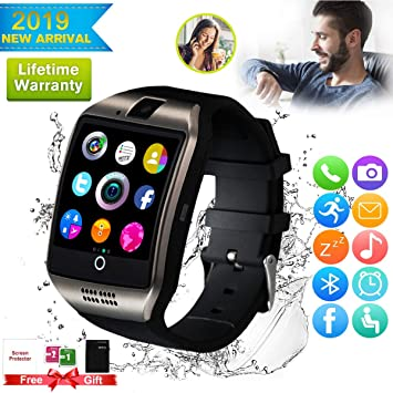 Montre Connectée, Montre Connectees Hommes Femmes, Montre Intelligente Smart Watch Con Caméra Whatsapp Montre