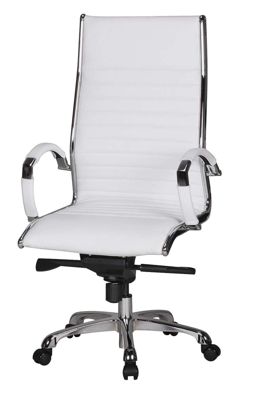 Chefsessel weiß  AMSTYLE Bürostuhl SALZBURG 1 Bezug Echt-Leder Weiß Design ...