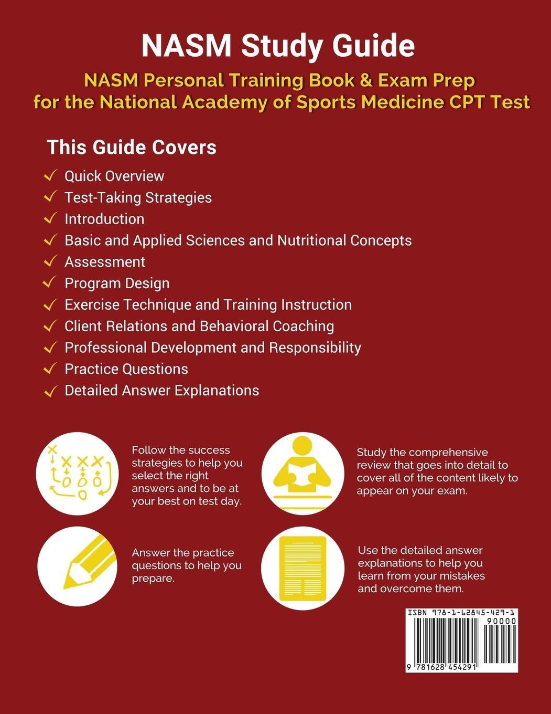 Nasm Study Guide Nasm Personal Training Book Exam Prep For The