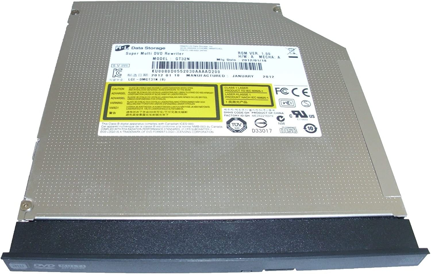 ACER Aspire 1450 Laptop Slim CD/DVD-ROM IDE Drive Genuine SDR-083 6M.A13V7.002