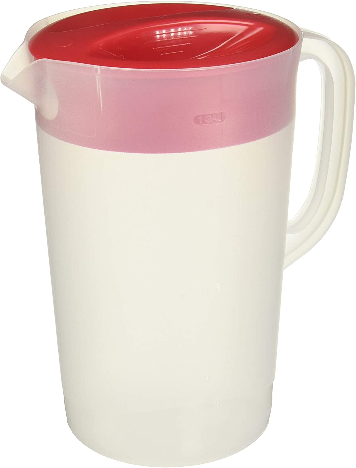 Rubbermaid Gallon Covered Pitcher 1 Gallon (Set of 2), White