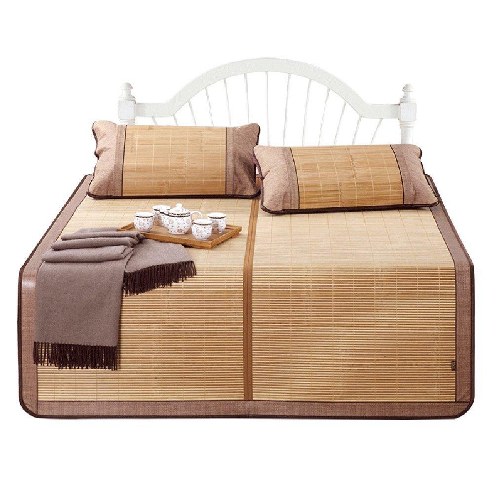 WENZHE Bambus Matratzen Sommer-Schlafmatten Strohmatte Teppiche Falten Glatt Zuhause Carbonisierungsprozess Multifunktion, 5 Größen