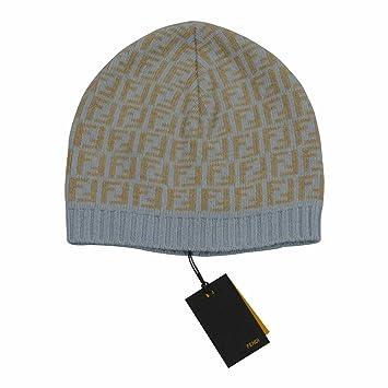 Fendi Baby Blue Beige Signature Print Beanie Hat Sizes M   XL (XL)   Amazon.co.uk  Baby d40d682ddf2
