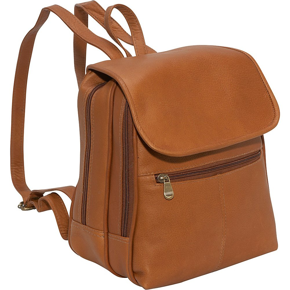 Le Donne Leather Everything Women's Backpack/Purse, One Size, Brown by Le Donne Leather