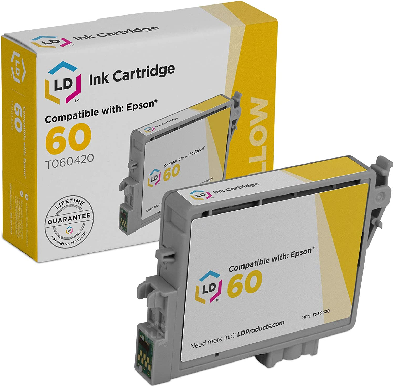 LD Products Remanufactured Ink Cartridge Replacement for Epson T0604 ( Yellow )